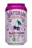 Waterloo Sparkling Water: Waterloo-12oz-SparklingWater-BlackCherry-Front