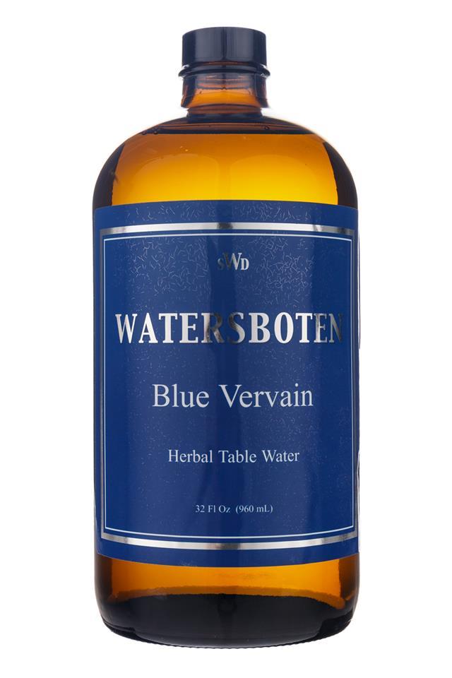 Waters Boten: Watersboten-HerbalTableWater-BlueVervain-Front