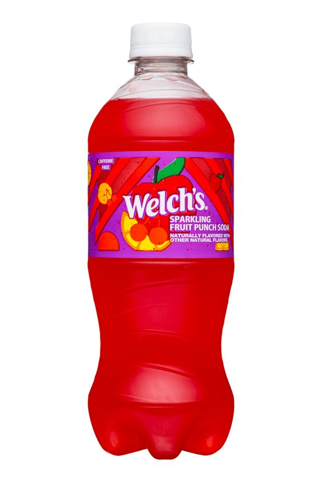Welch's Sparkling Soda: Welch's-20oz-Sparkling-FruitPunch-Front