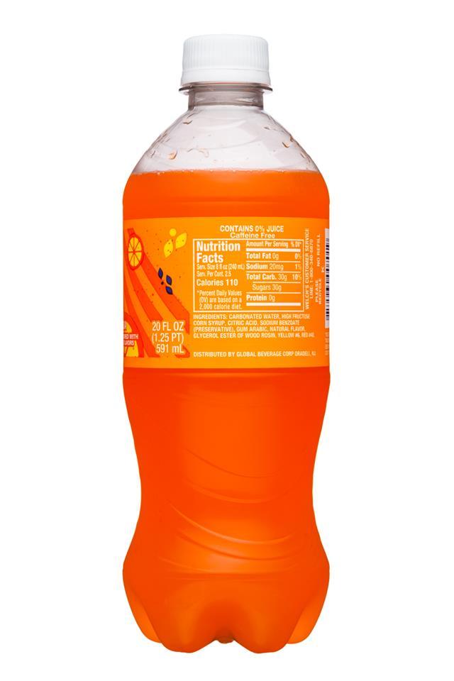 Welch's Sparkling Soda: Welch's-20oz-Sparkling-OrangeSoda-Facts