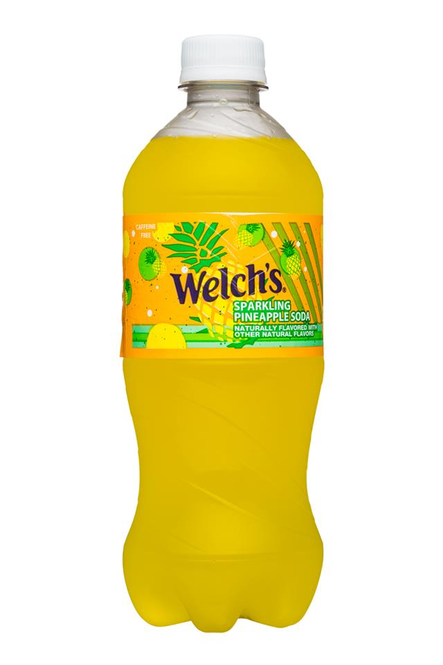Welch's Sparkling Soda: Welch's-20oz-Sparkling-PineappleSoda-Front