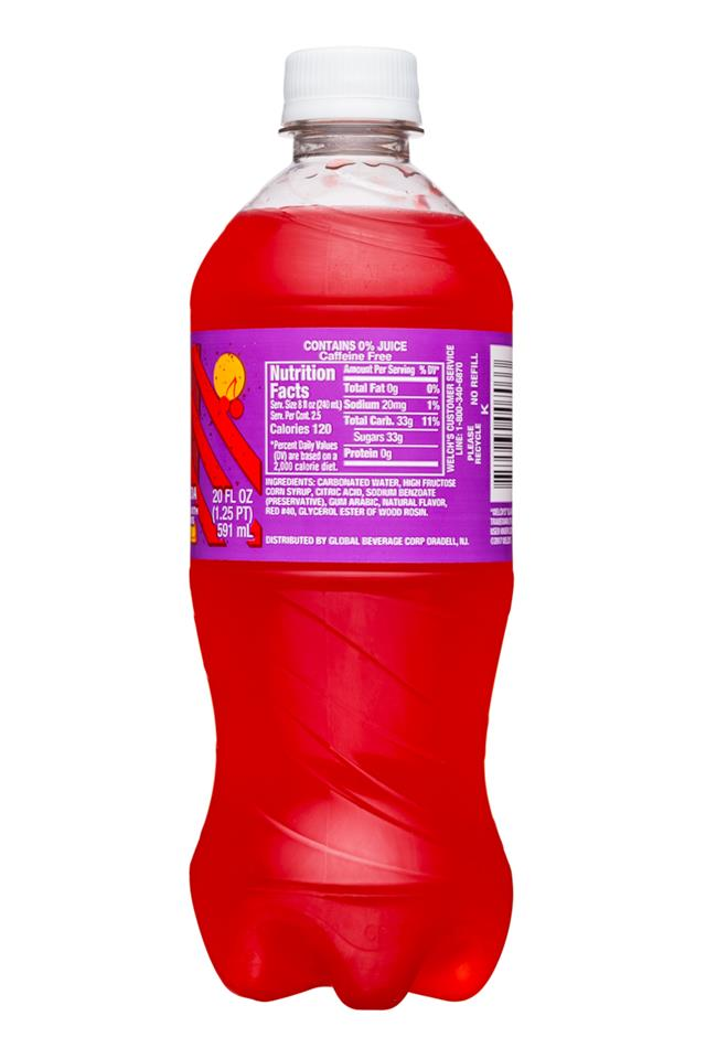 Welch's Sparkling Soda: Welch's-20oz-Sparkling-FruitPunch-Facts