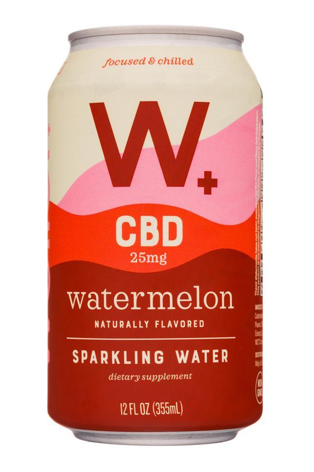 Weller +: Weller-12oz-CBDSparklingWater-Watermelon-Front