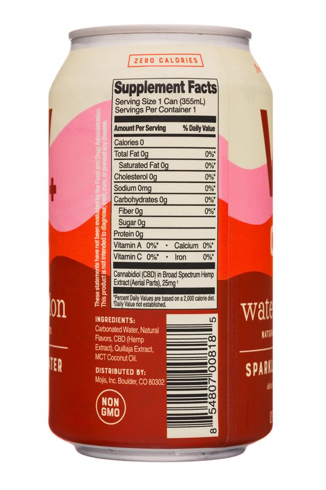 Weller +: Weller-12oz-CBDSparklingWater-Watermelon-Facts