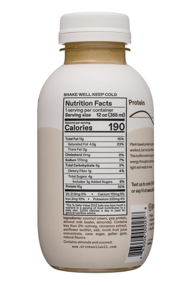 WellWell: WellWell-12oz-2020-Protein-CoconutChai-Facts