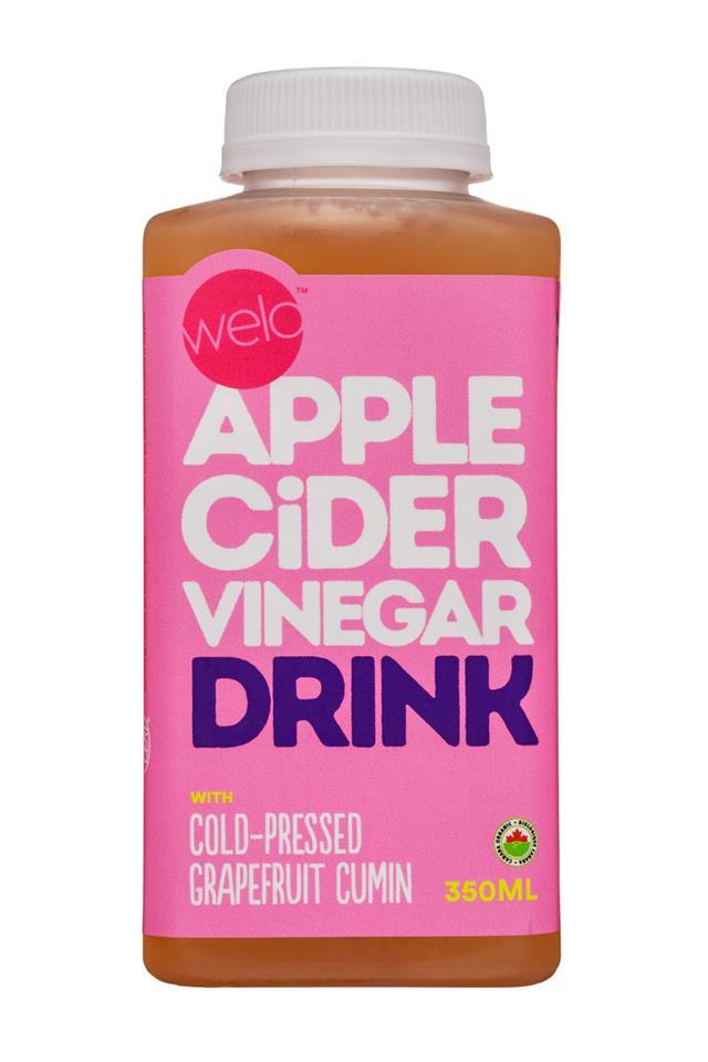 Welo Apple Cider Vinegar: Welo-350ml-ACV-GrapefruitCumin-Front