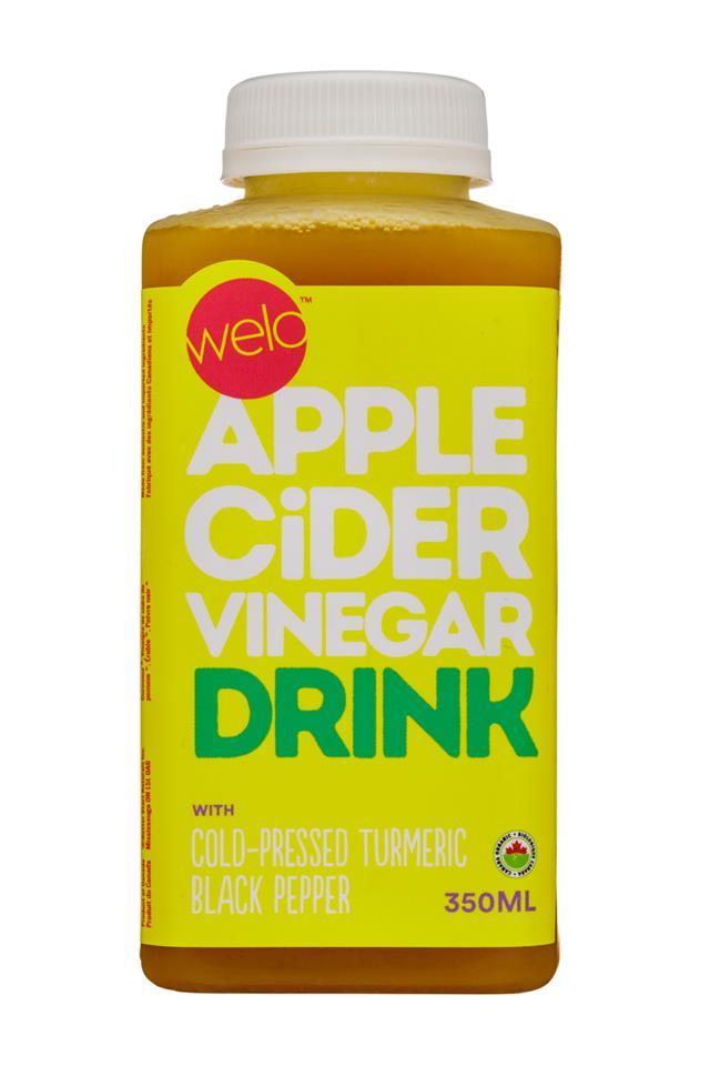 Welo Apple Cider Vinegar: Welo-350ml-ACV-TurmericBlackPepper-Front