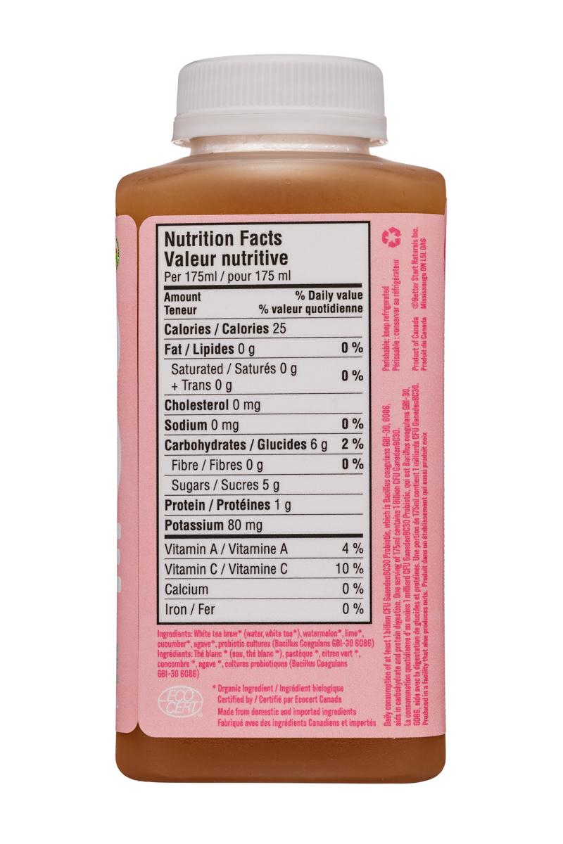 Welo Probiotic : Welo-350ml-ColdPressedProbiotic-CucumberLime-Facts