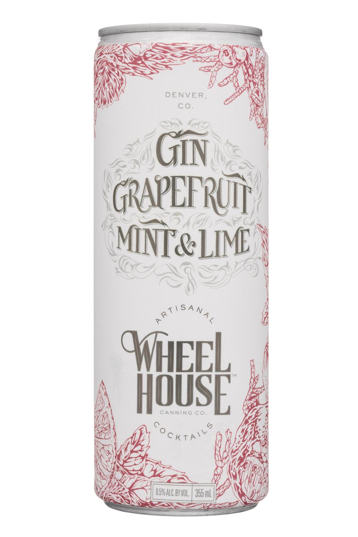 Wheel House Cocktails: WheelHouse-9oz-GinGrapefruitMintLime