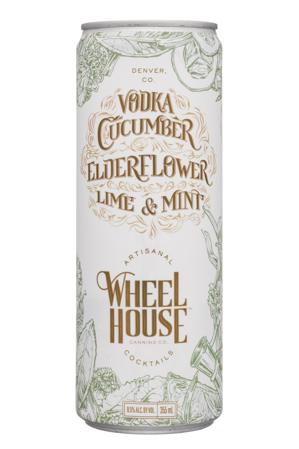 Wheel House Cocktails: WheelHouse-9oz-VodkaCucumberElderflowerLimeMint