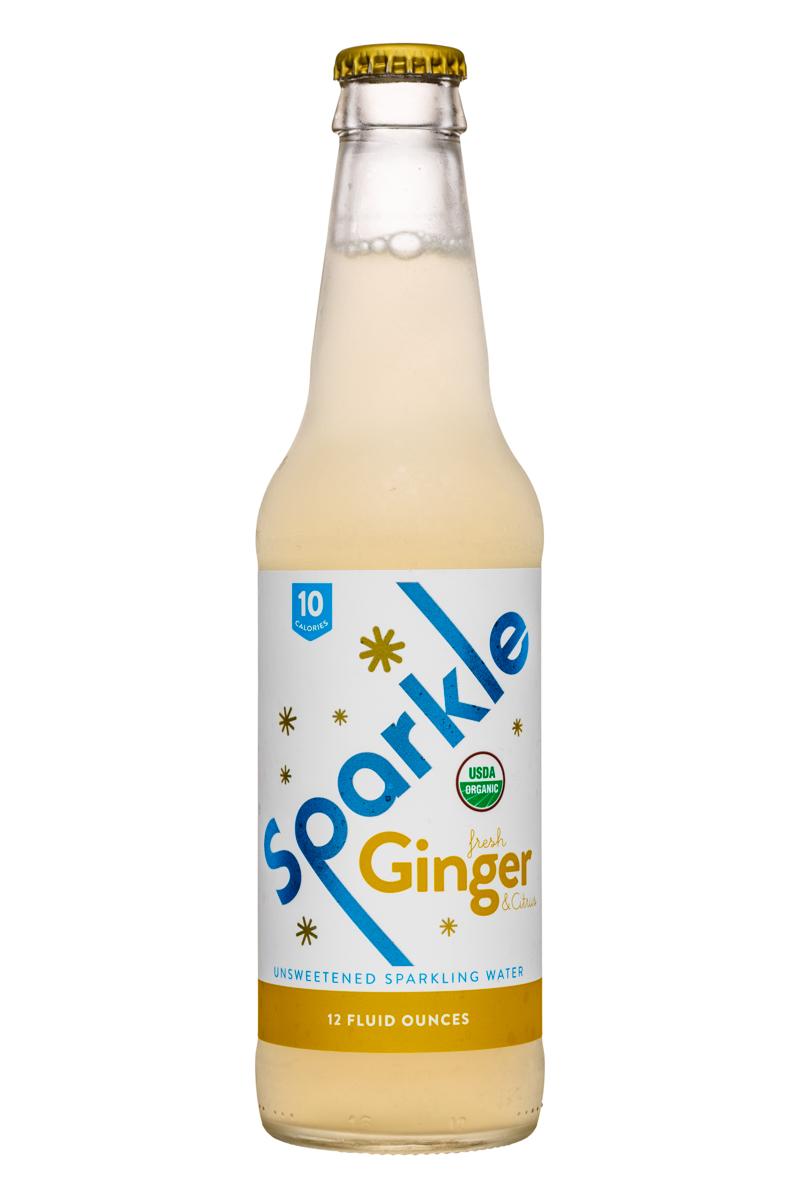 Wisco Pop! Sparkle: Sparkle-12oz-SparklingWater-Ginger-Front