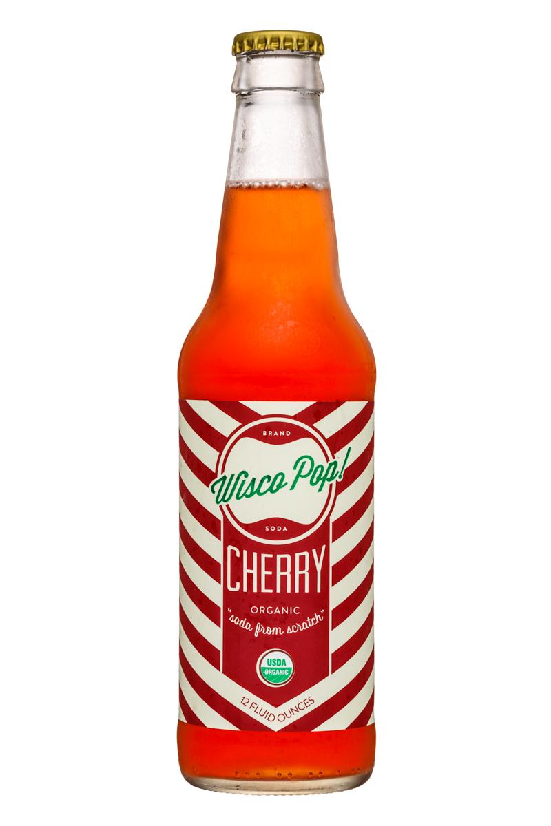Wisco Pop! Soda: WiscoPop-12ozBottle-Cherry-Front