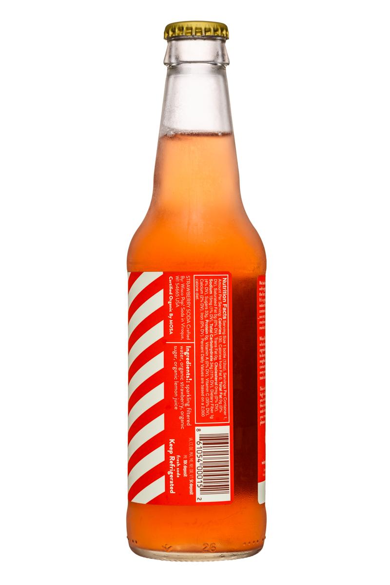 Wisco Pop! Soda: WiscoPop-12ozBottle-Strawberry-Facts
