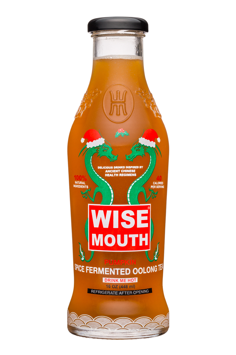Wise Mouth: WiseMouth-16oz-SpiceFermentedOolongTea-Front