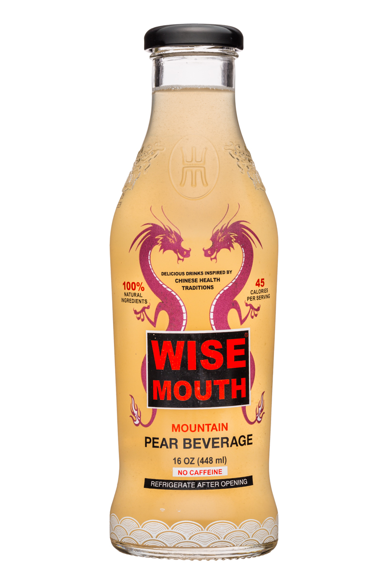 Wise Mouth: WiseMouth-16oz-PearBeverage-Front