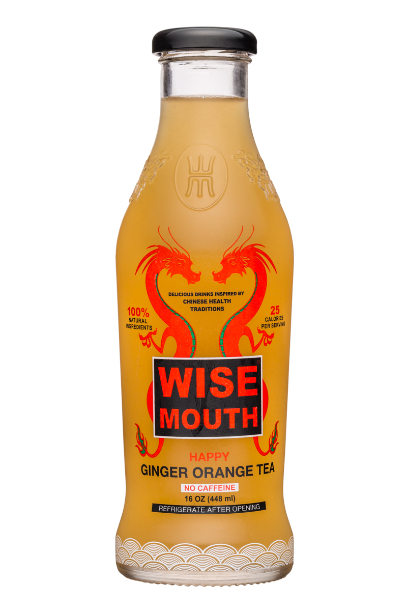 Wise Mouth: WiseMouth-16oz-GingerOrangeTea-Front