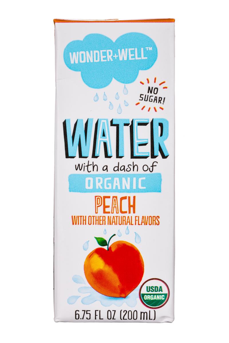 Wonder + Well: WonderWell-7oz-Water-Peach-Front