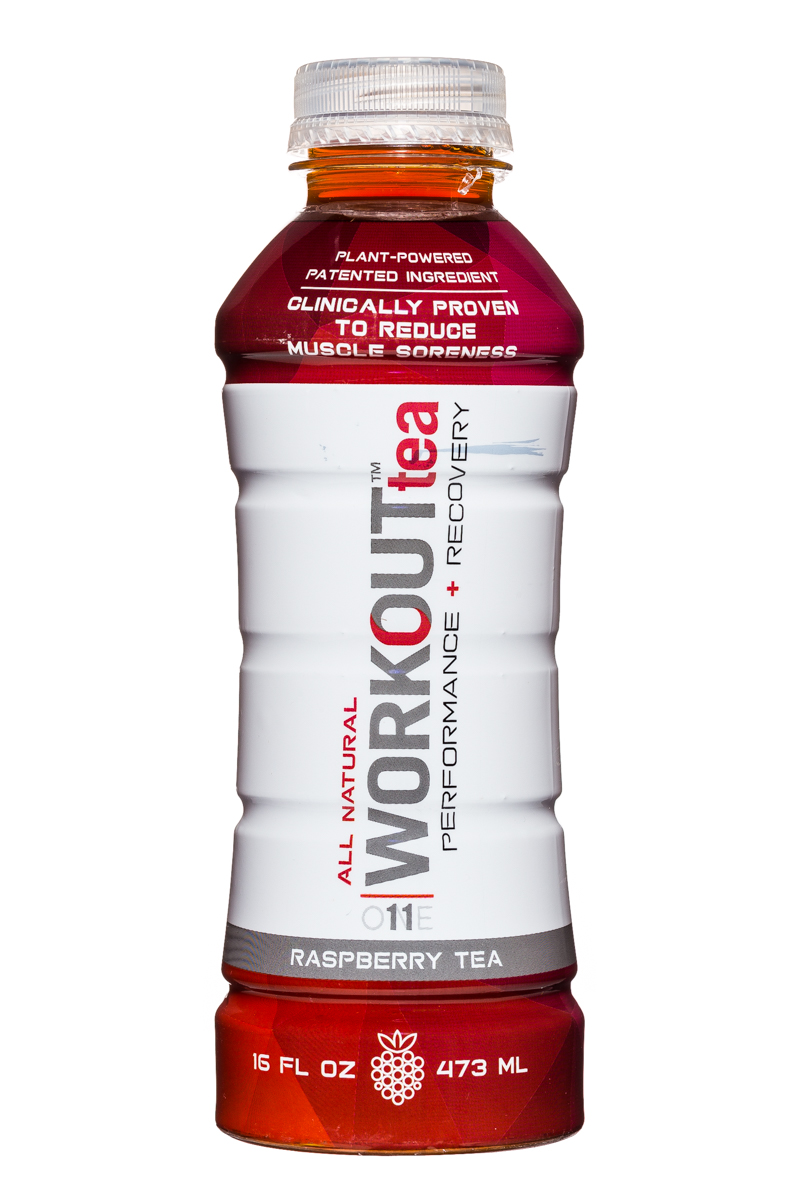 Workout Tea: WorkoutTea-16oz-RaspberryTea-Front