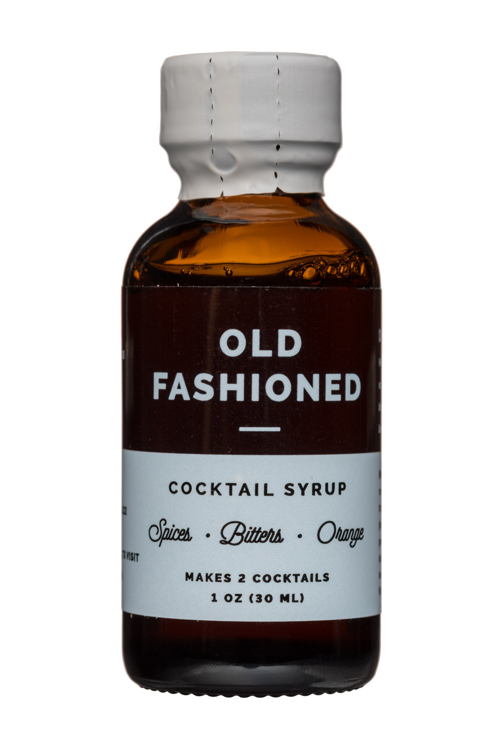 W&P Design: W&PDesign-1oz-CocktailSyrup-OldFashioned-Front
