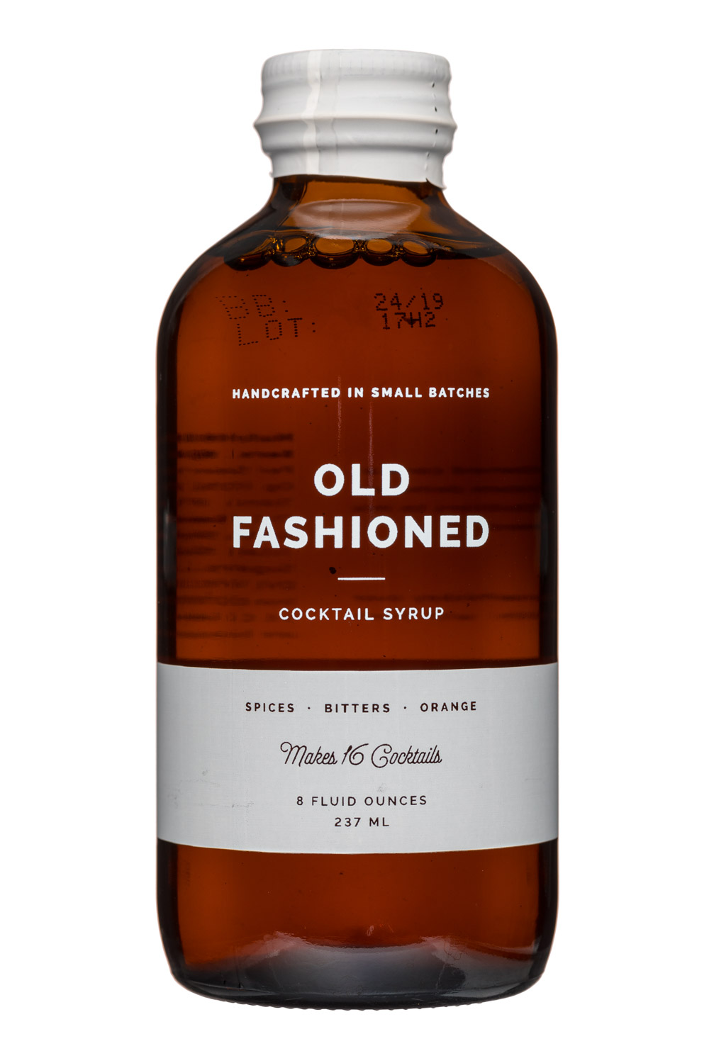 W&P Design: W&PDesign-8oz-CocktailSyrup-OldFashioned-Front
