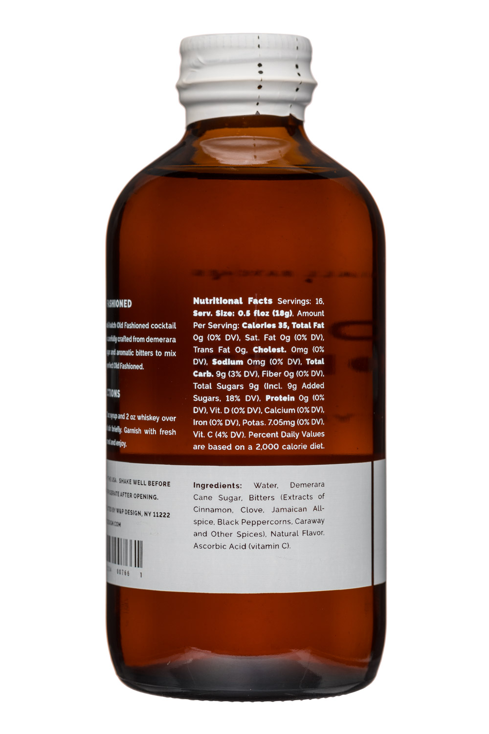 W&P Design: W&PDesign-8oz-CocktailSyrup-OldFashioned-Facts