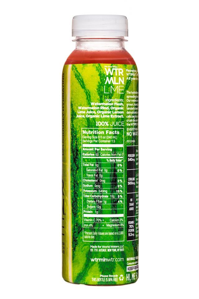 WTRMLN WTR: Wtrmln-12oz-Lime-Facts