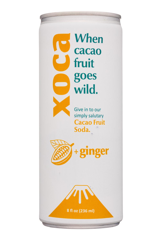 Xoca: Xoca-8oz-CacaoFruitSoda-Ginger-Front