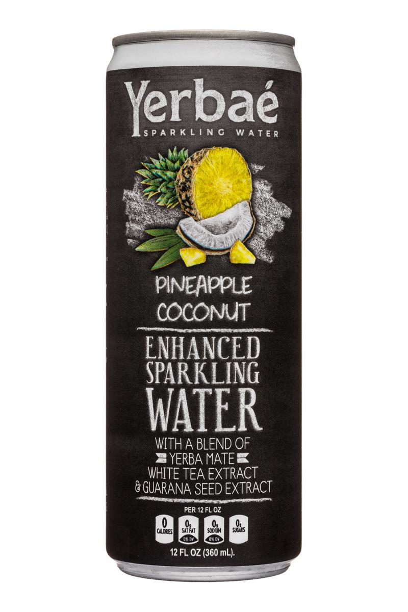 Yerbae: Yerbae-12oz-SparklingWater-PineappleCoconut-Front