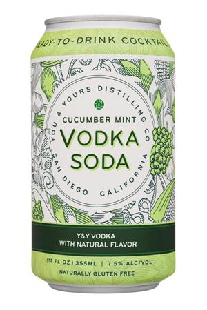 You & Yours Distilling Co.: YouYoursDistilling-12oz-2020-VodkaSoda-CucumberMint