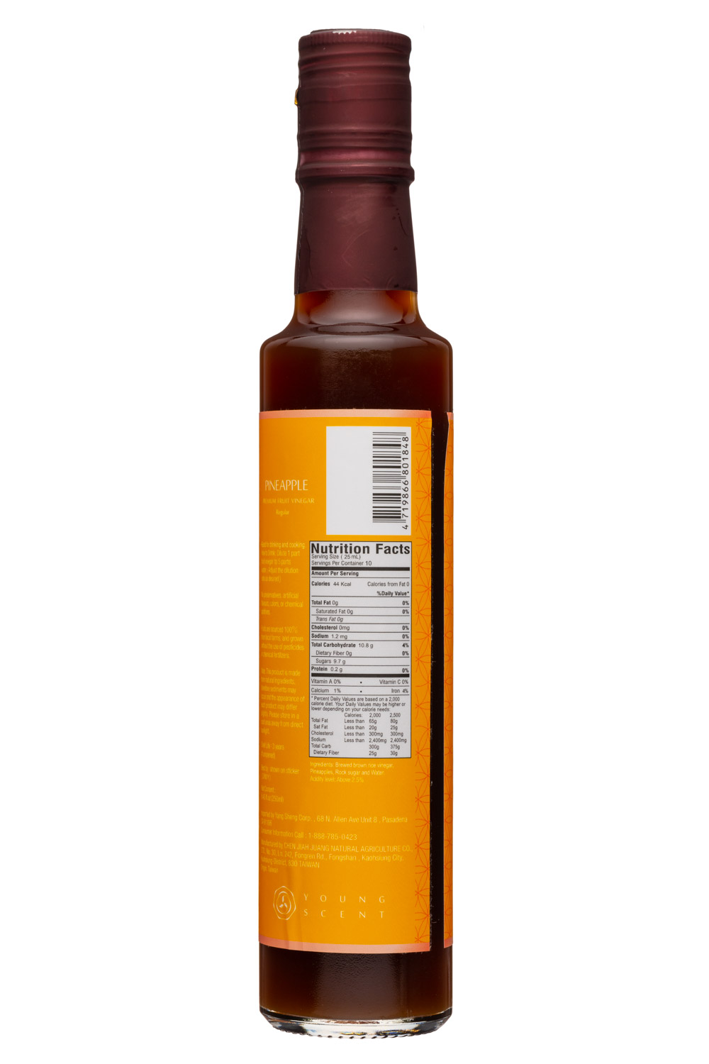 Young Scent: YoungScent-9oz-FruitVinegar-Pineapple-Facts