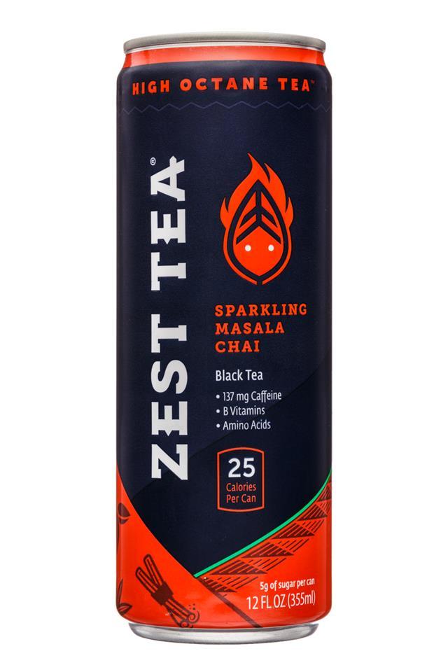 Zest Tea: ZestTea-12oz-Tea-SparklingMasalaChai-Front