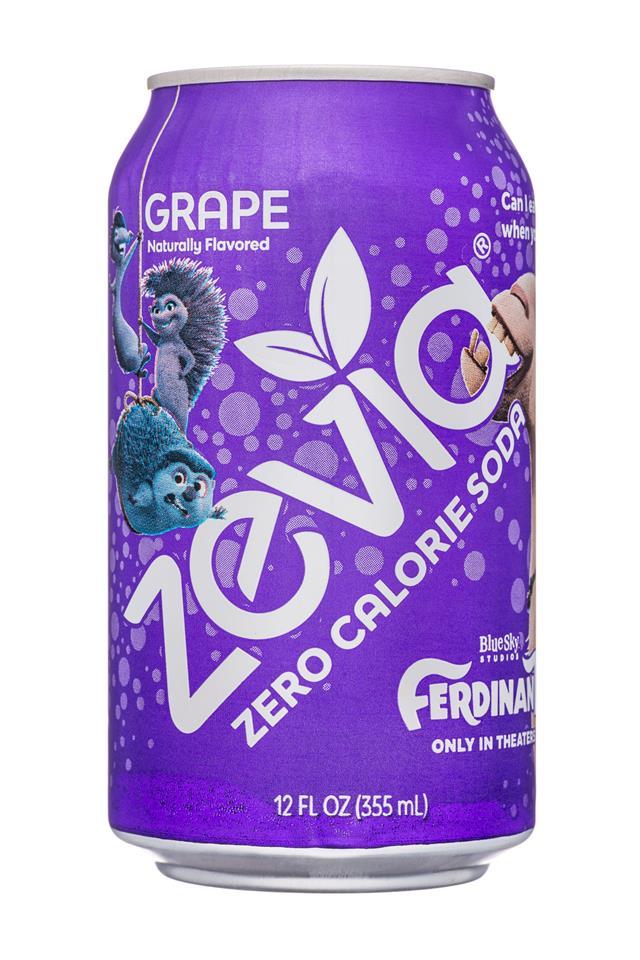 Zevia Ferdinand: Zevia-12oz-ZeroCalSoda-Grape-Front
