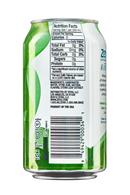 Zevia Sparkling Water: Zevia-12oz-SparklingWater-Lime-Facts