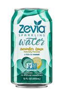 Zevia Sparkling Water: Zevia-12oz-SparklingWater-CucumberLemon-Front