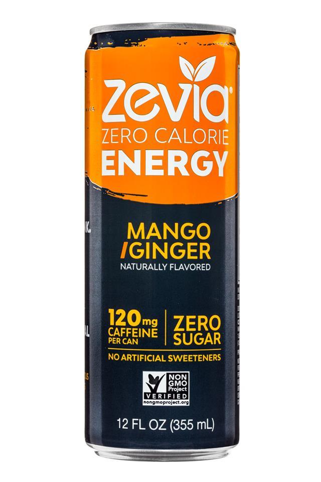 Zevia: Zevia-ZeroCalorieEnergy-12oz-MangoGinger-Front