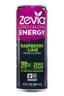 Zevia: Zevia-ZeroCalorieEnergy-12oz-RaspberryLime-Front