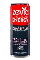 Zevia: Zevia-ZeroCalorieEnergy-12oz-Grapefruit-Front