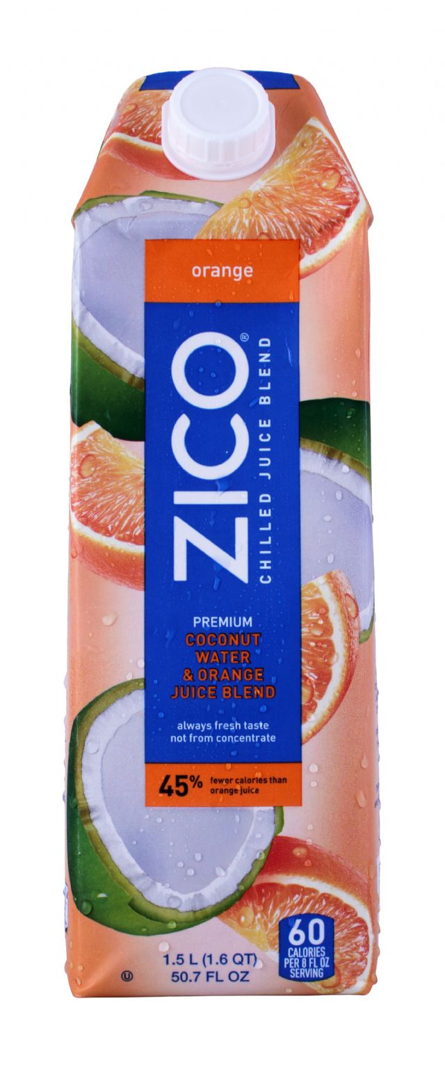 ZICO Chilled Juices: Zico Orange Front