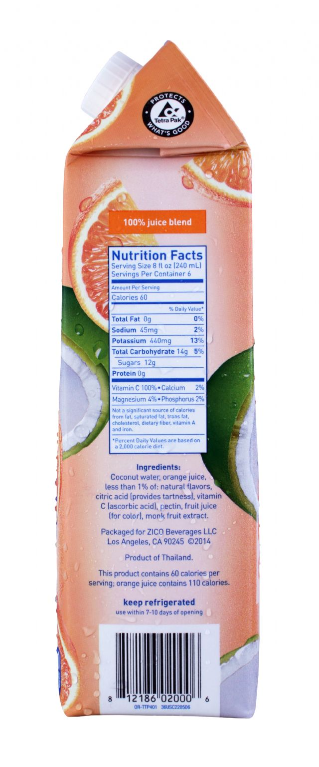 ZICO Chilled Juices: Zico Orange Facts