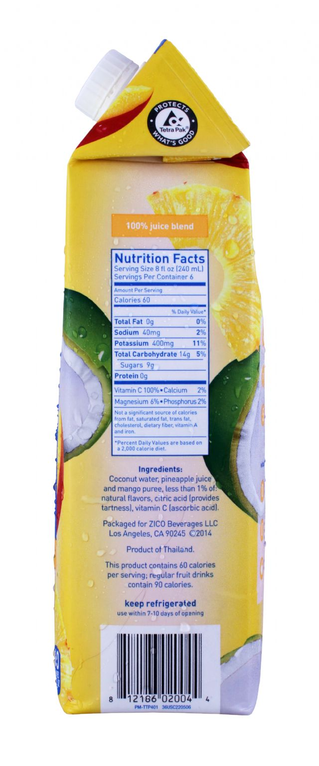ZICO Chilled Juices: Zico Pineapple Facts