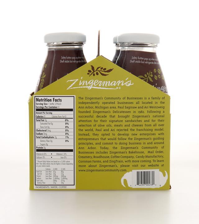 Zingerman's Coffee Company: ZingermansCoffeeCo ColdBrew4Pack Back