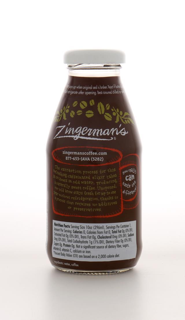 Zingerman's Coffee Company: ZingermansCoffeeCo ColdBrew Back