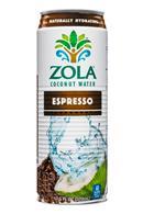Zola Coconut Water: Zola-CoconutWater-17oz-Espresso-Front