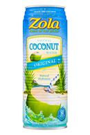 Zola Coconut Water: Zola-17oz-CoconutWater-Original-Front