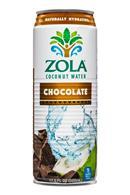 Zola Coconut Water: Zola-CoconutWater-17oz-Choc-Front
