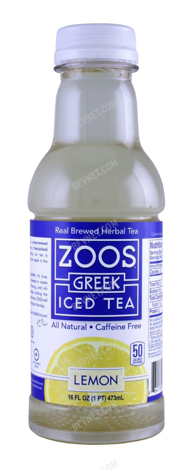 Zoos Greek Iced Tea: