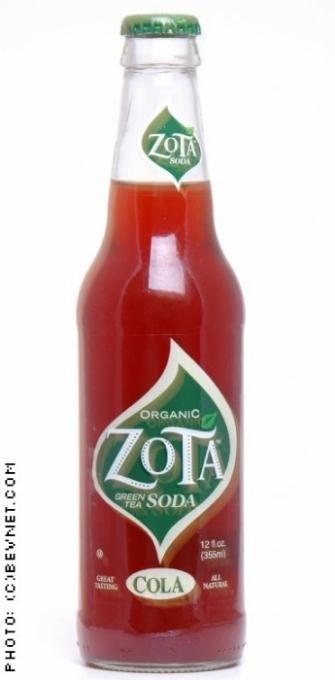 Zota Green Tea Soda: zota-cola.jpg