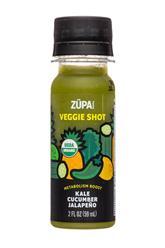 Veggie Shot: Kale Cucumber Jalapeno