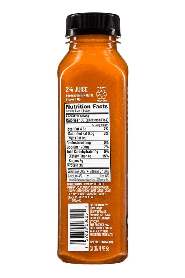 Zupa Noma: Zupa-12oz-Soup-TomatoGazpacho-Facts